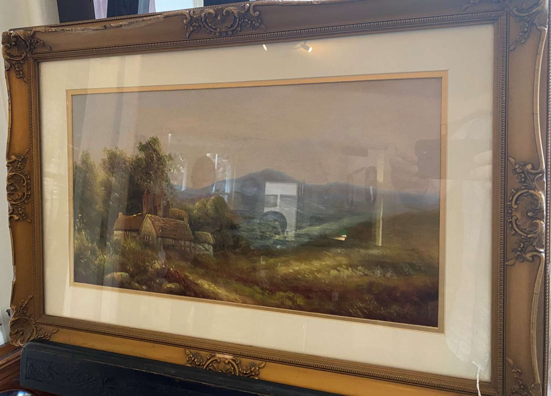 George Jennings Signed & Framed Oil On Canvas