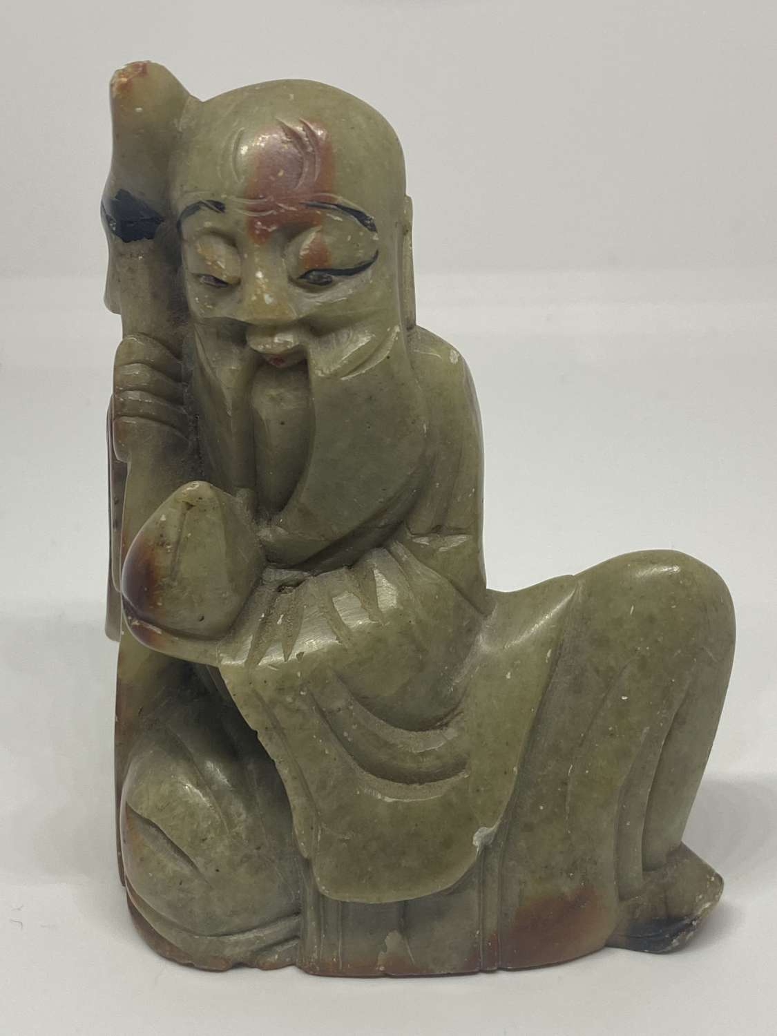 Chinese Hand Carved Soapstone Figure Of A Sage