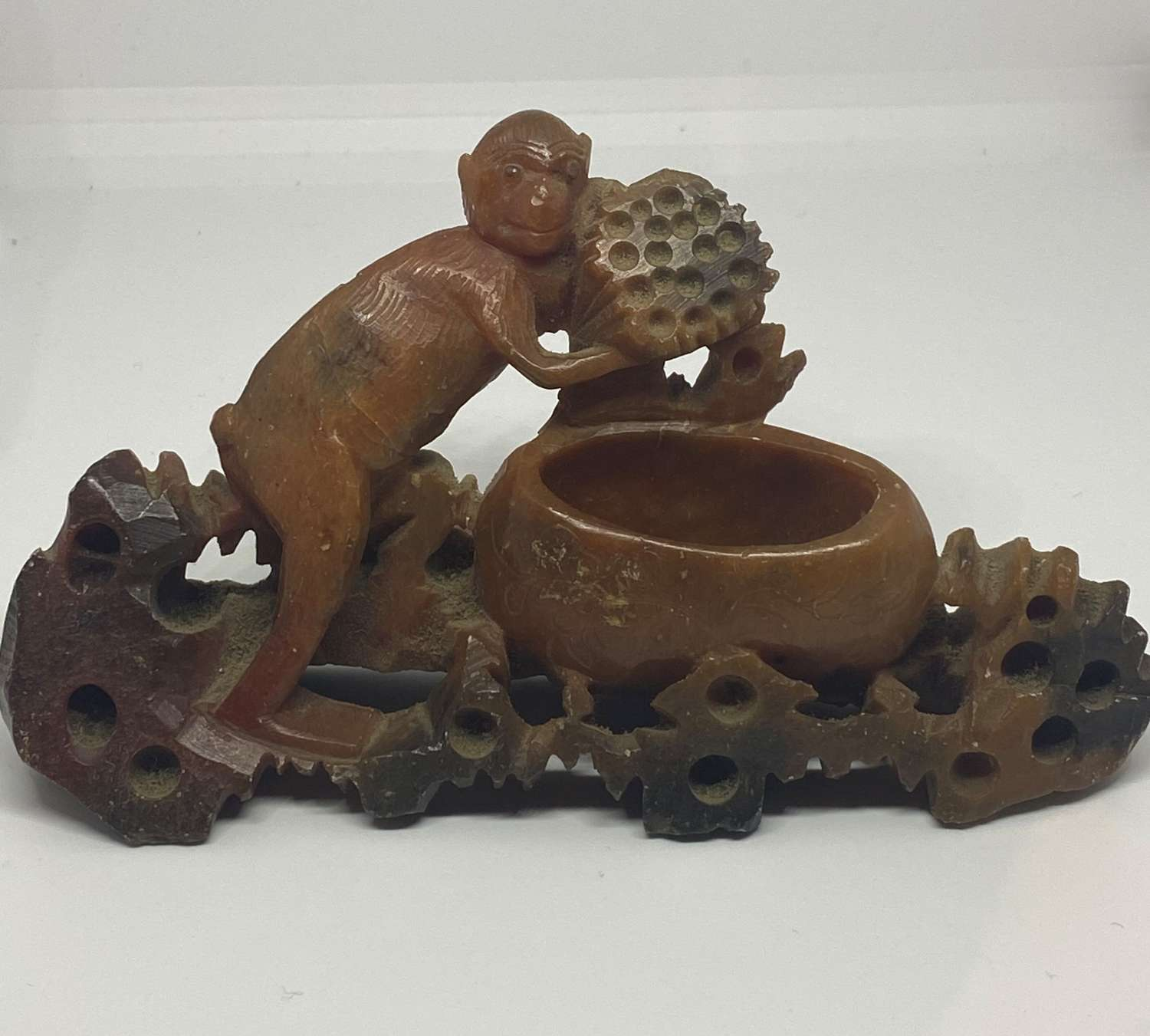 Chinese Hand Carved Soapstone Figure