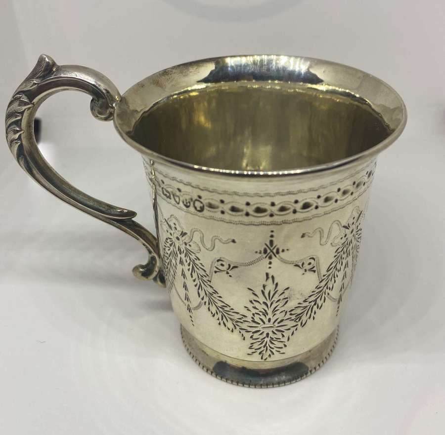 Solid Silver Christening Cup London 1877
