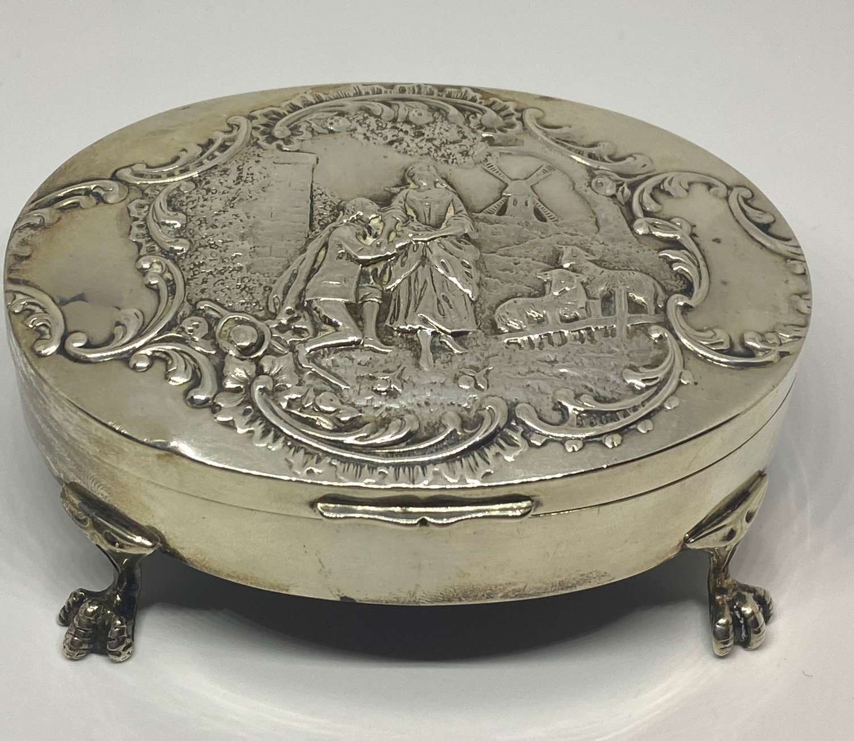 Solid Silver Jewellery Box William Comyns