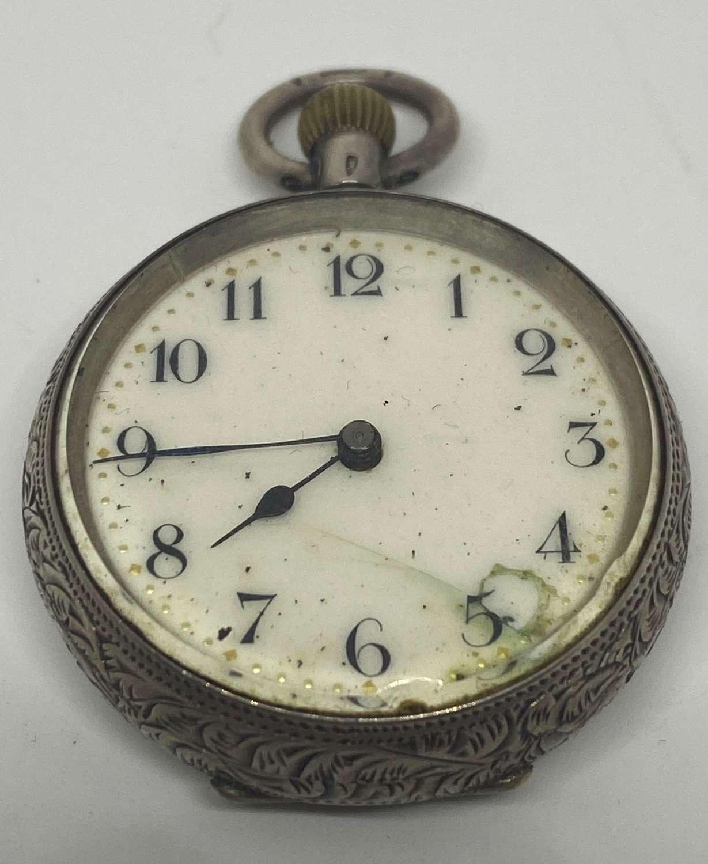 Ladies Silver Pocket Watch