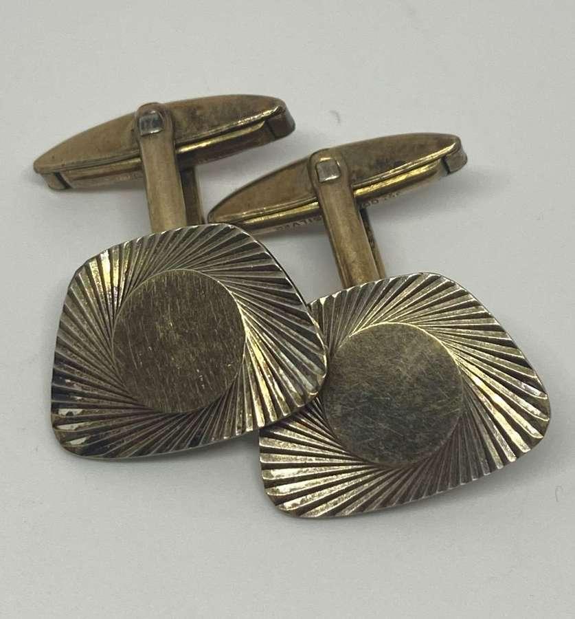 Gold On Silver Art Deco Cufflinks
