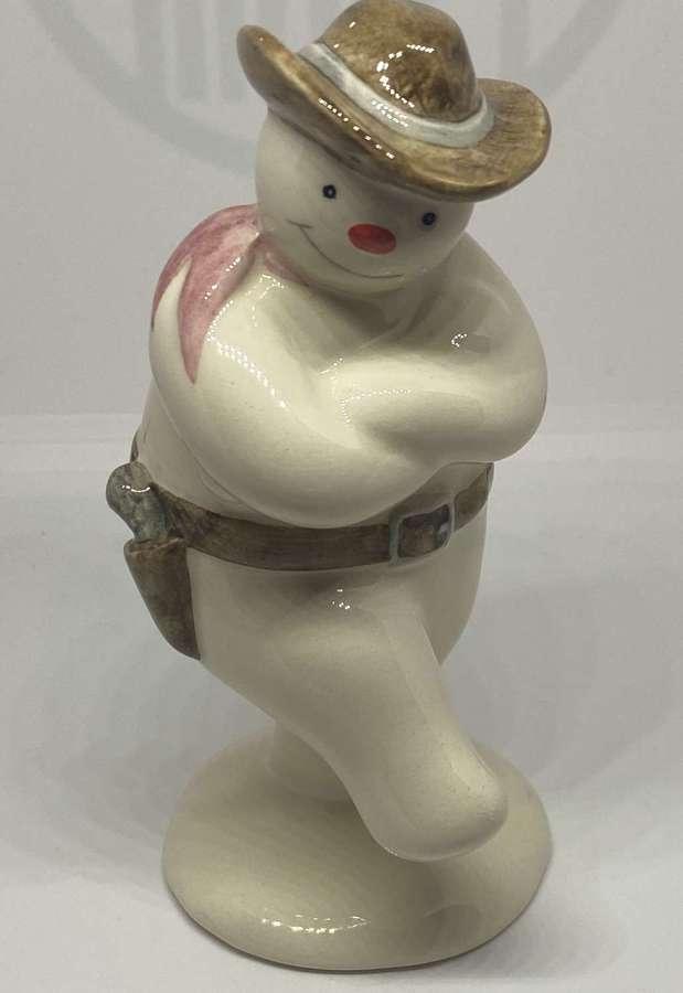 Royal Doulton Cowboy Snowman Figure