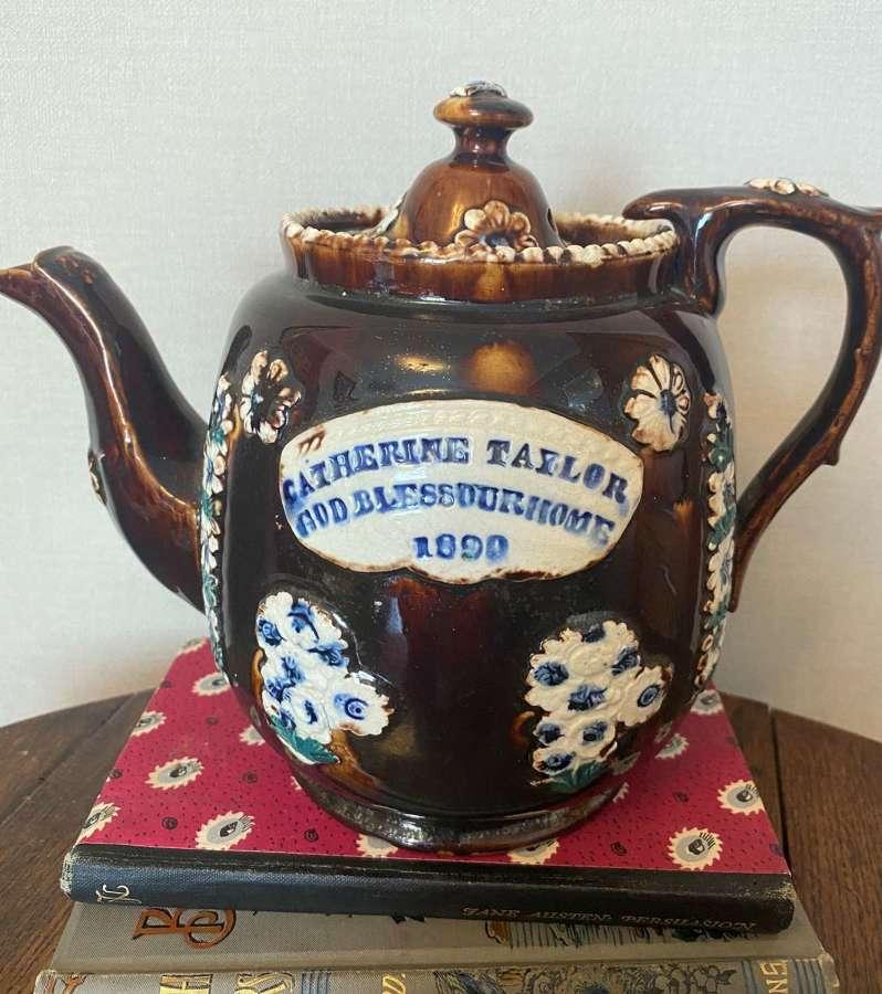Antique Bargeware teapot