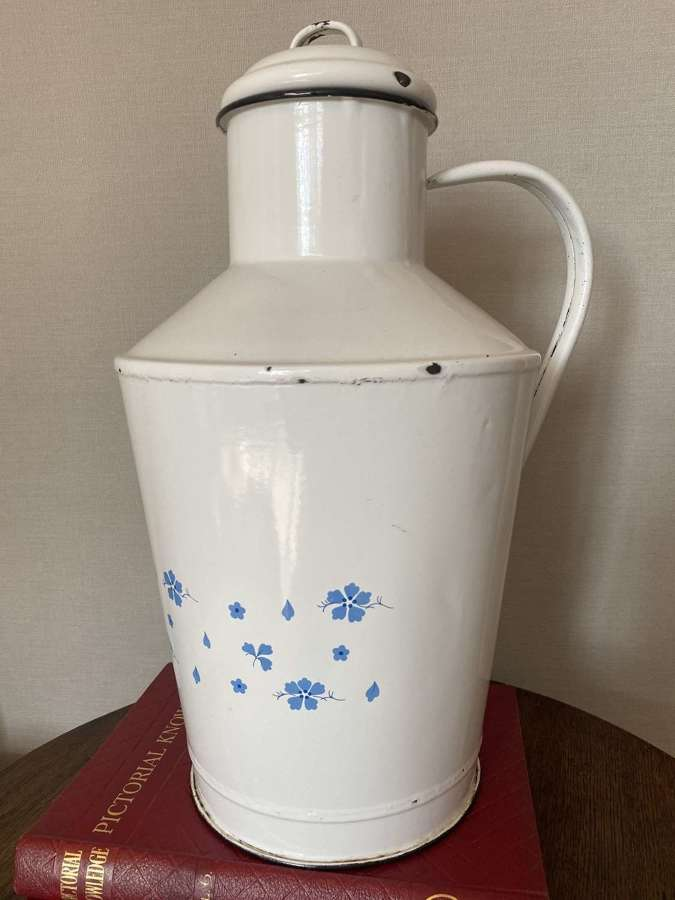 Large Continental Enamel Water Pitcher