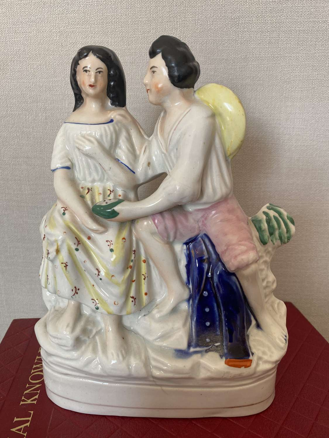 19th C Staffordshire Figure The Proposition