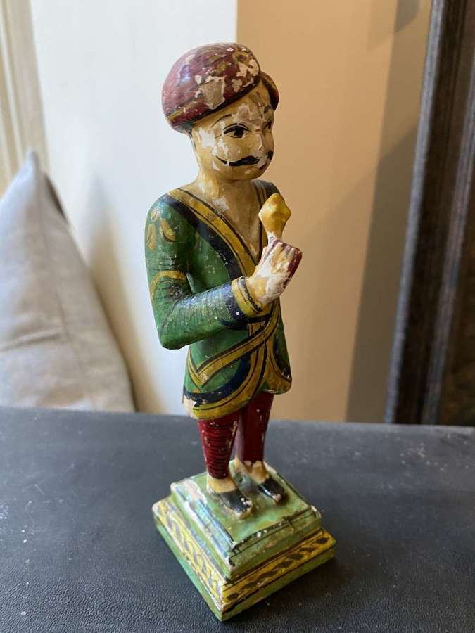 Indian Hand Carved & Painted Man