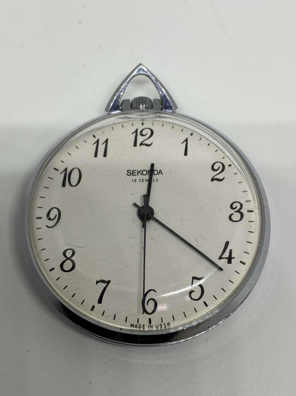 Russian Sekonda 19 Jewel Pocket Watch