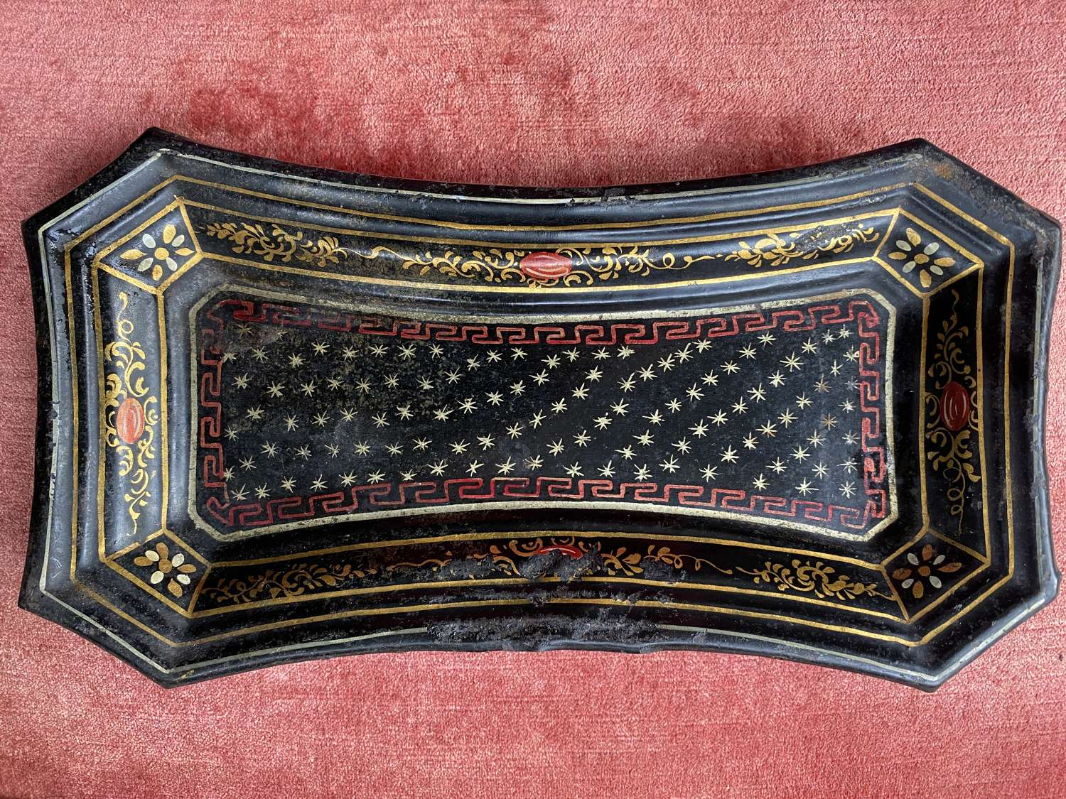 Small French Toleware Pin Tray
