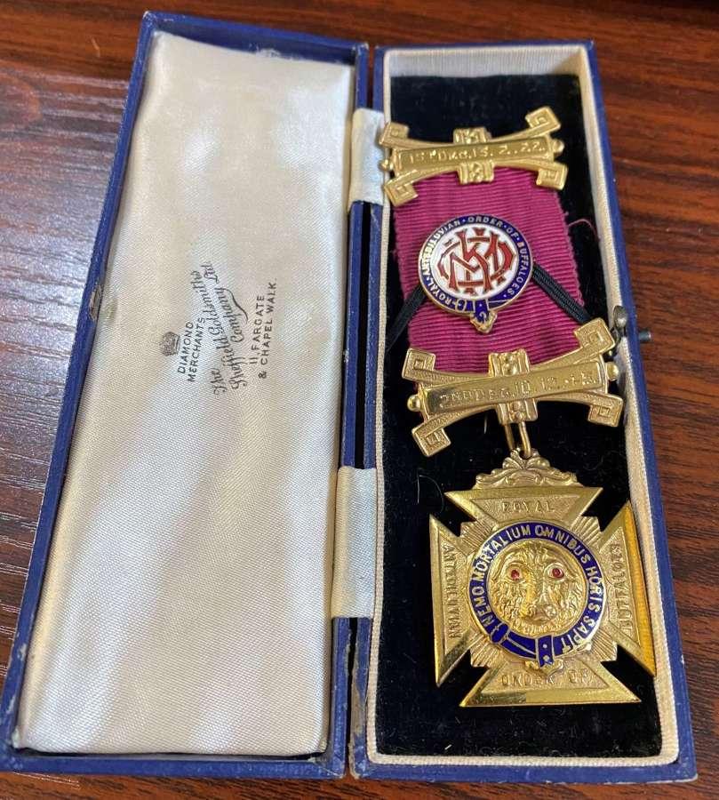 Masonic Medal In Original Case
