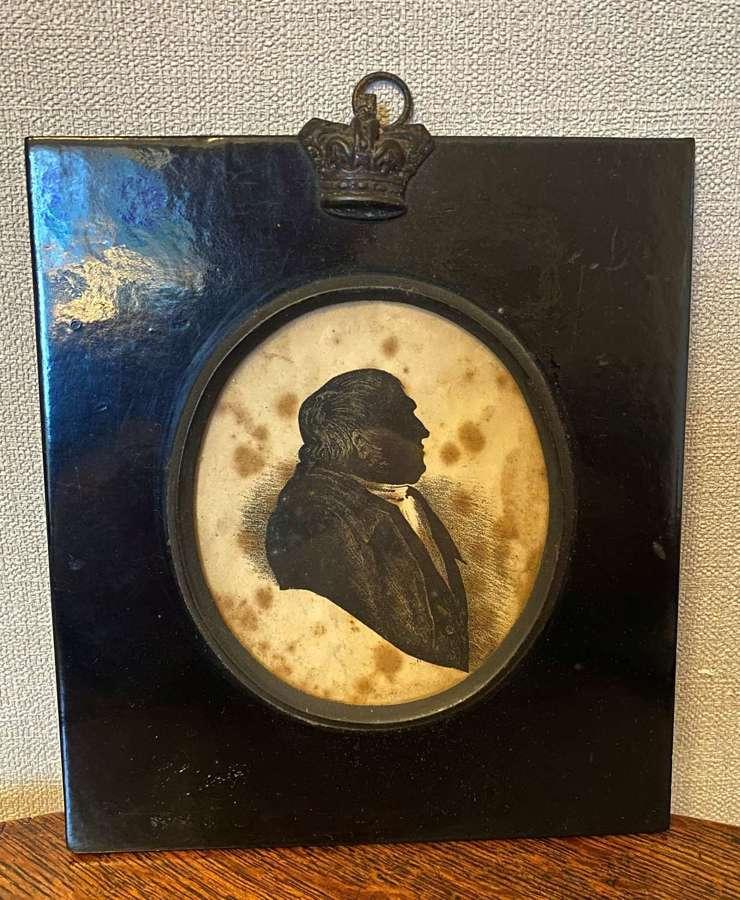 Georgian Silhouette Of A Portly Gentleman