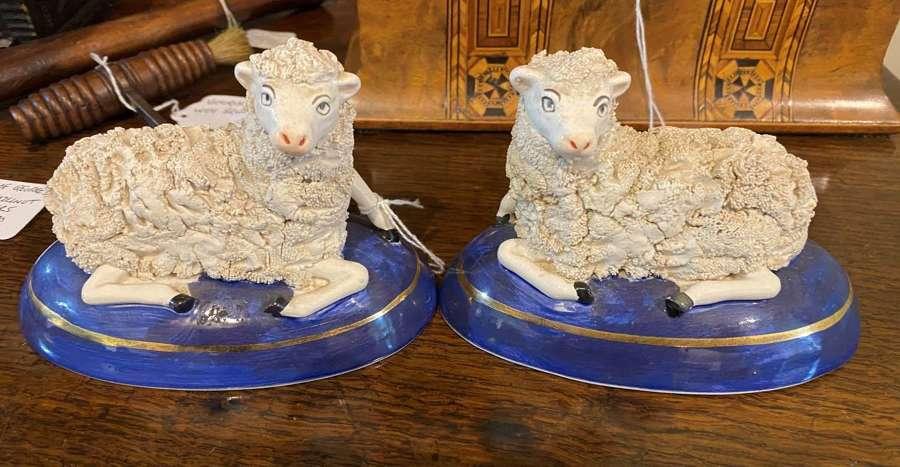 Pair Of Staffordshire Sheep