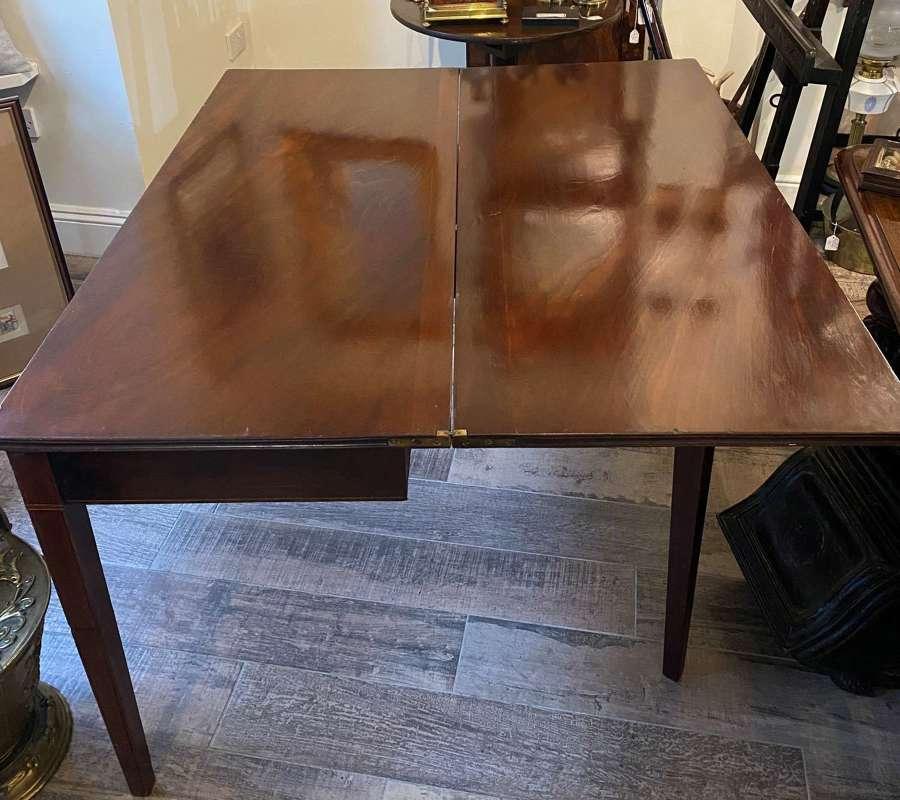 Victorian Mahogany Fold Over Tea Table
